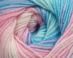 Fiber Content 100% Acrylic, Pink Shades, Brand Ice Yarns, Blue Shades, Yarn Thickness 3 Light  DK, Light, Worsted, fnt2-44709