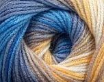 Fiber Content 100% Acrylic, Yellow, White, Lilac, Brand ICE, Blue Shades, Yarn Thickness 3 Light  DK, Light, Worsted, fnt2-44712