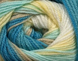 Fiber Content 100% Acrylic, Yellow, White, Brand Ice Yarns, Blue Shades, Beige, Yarn Thickness 3 Light  DK, Light, Worsted, fnt2-44716