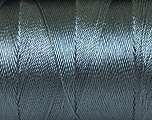 Fiber Content 100% Polyester, Brand ICE, Dark Grey, Yarn Thickness 0 Lace  Fingering Crochet Thread, fnt2-44822