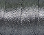 Fiber Content 100% Polyester, Brand Ice Yarns, Grey, Yarn Thickness 0 Lace  Fingering Crochet Thread, fnt2-44823