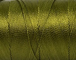 Fiber Content 100% Polyester, Olive Green, Brand Ice Yarns, Yarn Thickness 0 Lace  Fingering Crochet Thread, fnt2-44831