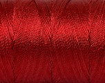 Fiber Content 100% Polyester, Brand Ice Yarns, Dark Red, Yarn Thickness 0 Lace  Fingering Crochet Thread, fnt2-44834