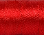 Fiber Content 100% Polyester, Red, Brand Ice Yarns, Yarn Thickness 0 Lace  Fingering Crochet Thread, fnt2-44835