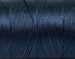 Fiber Content 100% Polyester, Navy, Brand Ice Yarns, Yarn Thickness 0 Lace  Fingering Crochet Thread, fnt2-44837