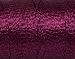 Fiber Content 100% Polyester, Maroon, Brand ICE, Yarn Thickness 0 Lace  Fingering Crochet Thread, fnt2-44841