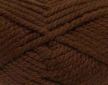 Fiber Content 55% Acrylic, 45% Wool, Brand ICE, Brown, Yarn Thickness 6 SuperBulky  Bulky, Roving, fnt2-45124