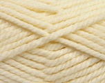 Fiber Content 55% Acrylic, 45% Wool, Brand ICE, Cream, Yarn Thickness 6 SuperBulky  Bulky, Roving, fnt2-45126