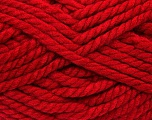 Fiber Content 55% Acrylic, 45% Wool, Red, Brand ICE, Yarn Thickness 6 SuperBulky  Bulky, Roving, fnt2-45131