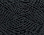 Fiber Content 55% Cotton, 45% Acrylic, Brand Ice Yarns, Black, Yarn Thickness 4 Medium  Worsted, Afghan, Aran, fnt2-45136