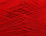 Fiber Content 55% Cotton, 45% Acrylic, Red, Brand Ice Yarns, Yarn Thickness 4 Medium  Worsted, Afghan, Aran, fnt2-45147