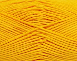 Fiber Content 55% Cotton, 45% Acrylic, Yellow, Brand Ice Yarns, Yarn Thickness 4 Medium  Worsted, Afghan, Aran, fnt2-45148