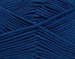 Fiber Content 55% Cotton, 45% Acrylic, Brand Ice Yarns, Dark Blue, Yarn Thickness 4 Medium  Worsted, Afghan, Aran, fnt2-45149
