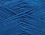 Fiber Content 55% Cotton, 45% Acrylic, Brand Ice Yarns, Blue, Yarn Thickness 4 Medium  Worsted, Afghan, Aran, fnt2-45150
