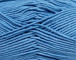 Fiber Content 55% Cotton, 45% Acrylic, Brand Ice Yarns, Baby Blue, Yarn Thickness 4 Medium  Worsted, Afghan, Aran, fnt2-45153