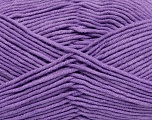 Fiber Content 55% Cotton, 45% Acrylic, Lilac, Brand Ice Yarns, Yarn Thickness 4 Medium  Worsted, Afghan, Aran, fnt2-45158
