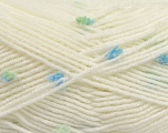 Fiber Content 87% Antipilling Acrylic, 13% Polyester, White, Brand Ice Yarns, Green, Blue, Yarn Thickness 3 Light  DK, Light, Worsted, fnt2-45191
