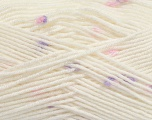 Fiber Content 87% Antipilling Acrylic, 13% Polyester, White, Pink, Lilac, Brand Ice Yarns, Yarn Thickness 3 Light  DK, Light, Worsted, fnt2-45194