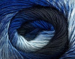 Fiber Content 50% Wool, 50% Acrylic, Brand Ice Yarns, Blue Shades, Yarn Thickness 2 Fine  Sport, Baby, fnt2-45313
