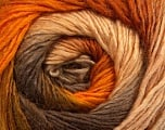 Fiber Content 50% Wool, 50% Acrylic, Orange, Brand Ice Yarns, Gold, Camel, Brown, Yarn Thickness 2 Fine  Sport, Baby, fnt2-45314