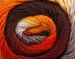 Fiber Content 50% Wool, 50% Acrylic, Orange, Brand Ice Yarns, Grey, Gold, Brown, Yarn Thickness 2 Fine  Sport, Baby, fnt2-45315