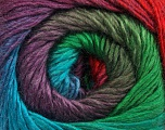 Fiber Content 50% Acrylic, 50% Wool, Turquoise, Red, Purple, Khaki, Brand ICE, Green, Yarn Thickness 2 Fine  Sport, Baby, fnt2-45318
