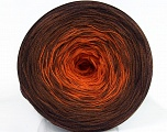 Fiber Content 50% Cotton, 50% Acrylic, Orange, Brand ICE, Brown Shades, Yarn Thickness 2 Fine  Sport, Baby, fnt2-46159