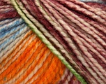 Fiber Content 75% Acrylic, 25% Wool, White, Orange, Maroon, Brand Ice Yarns, Green, Blue, Yarn Thickness 5 Bulky  Chunky, Craft, Rug, fnt2-46232