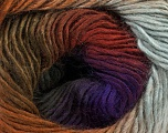 Fiber Content 50% Wool, 50% Acrylic, Purple Shades, Khaki, Brand Ice Yarns, Grey, Brown Shades, Yarn Thickness 2 Fine  Sport, Baby, fnt2-46630