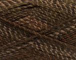 Fiber Content 100% Acrylic, Brand Ice Yarns, Brown Shades, Yarn Thickness 4 Medium  Worsted, Afghan, Aran, fnt2-46634