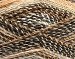 Fiber Content 100% Acrylic, Brand Ice Yarns, Cream, Brown, Beige, Yarn Thickness 4 Medium  Worsted, Afghan, Aran, fnt2-46635