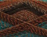 Conţinut de fibre 100% Acrilic, Turquoise, Brand Ice Yarns, Camel, Brown Shades, Yarn Thickness 4 Medium  Worsted, Afghan, Aran, fnt2-46639