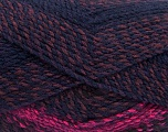 Fiber Content 100% Acrylic, Purple Shades, Brand Ice Yarns, Fuchsia, Brown, Yarn Thickness 4 Medium  Worsted, Afghan, Aran, fnt2-46640