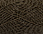 Fiber Content 50% Wool, 50% Acrylic, Brand ICE, Dark Brown, Yarn Thickness 4 Medium  Worsted, Afghan, Aran, fnt2-46643