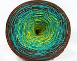 Fiber Content 50% Cotton, 50% Acrylic, Turquoise, Brand Ice Yarns, Green, Brown, Yarn Thickness 2 Fine  Sport, Baby, fnt2-46658