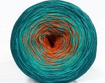 Fiber Content 50% Acrylic, 50% Cotton, Teal, Orange, Brand Ice Yarns, Emerald Green, Yarn Thickness 2 Fine  Sport, Baby, fnt2-46663