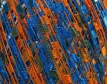 Trellis  Fiber Content 100% Polyester, White, Orange, Brand Ice Yarns, Blue, Yarn Thickness 5 Bulky  Chunky, Craft, Rug, fnt2-46668