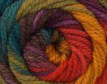 Fiber Content 100% Acrylic, Turquoise, Red, Purple, Brand Ice Yarns, Green Shades, Gold, Yarn Thickness 4 Medium  Worsted, Afghan, Aran, fnt2-46968