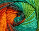 Fiber Content 100% Acrylic, Yellow, Turquoise, Orange, Brand Ice Yarns, Grey, Green, Yarn Thickness 4 Medium  Worsted, Afghan, Aran, fnt2-46970
