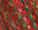 Trellis  Fiber Content 100% Polyester, Red, Pink, Brand Ice Yarns, Green Shades, Yarn Thickness 5 Bulky  Chunky, Craft, Rug, fnt2-46974