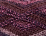 Fiber Content 100% Acrylic, Rose Pink, Maroon, Brand Ice Yarns, Brown, Yarn Thickness 4 Medium  Worsted, Afghan, Aran, fnt2-47022