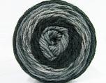 Fiber Content 100% Acrylic, Brand Ice Yarns, Grey Shades, Black, Yarn Thickness 4 Medium  Worsted, Afghan, Aran, fnt2-47063