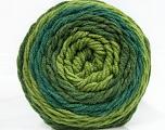Fiber Content 100% Acrylic, Brand Ice Yarns, Green Shades, Yarn Thickness 4 Medium  Worsted, Afghan, Aran, fnt2-47067