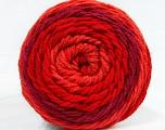 Conţinut de fibre 100% Acrilic, Red Shades, Brand Ice Yarns, Yarn Thickness 4 Medium  Worsted, Afghan, Aran, fnt2-47068