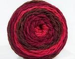 Fiber Content 100% Acrylic, Pink, Maroon, Brand Ice Yarns, Burgundy, Yarn Thickness 4 Medium  Worsted, Afghan, Aran, fnt2-47076