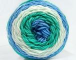 Fiber Content 100% Acrylic, White, Mint Green, Brand Ice Yarns, Blue, Yarn Thickness 4 Medium  Worsted, Afghan, Aran, fnt2-47081