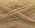 self-striping  Fiber Content 100% Acrylic, Yellow, Light Khaki, Brand Ice Yarns, Cream, fnt2-47122