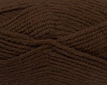 Fiber Content 50% Acrylic, 25% Wool, 25% Alpaca, Brand Ice Yarns, Dark Brown, Yarn Thickness 5 Bulky  Chunky, Craft, Rug, fnt2-47133