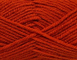 Fiber Content 50% Acrylic, 25% Wool, 25% Alpaca, Brand Ice Yarns, Dark Orange, Yarn Thickness 5 Bulky  Chunky, Craft, Rug, fnt2-47142