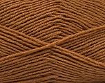 Fiber Content 55% Virgin Wool, 5% Cashmere, 40% Acrylic, Brand ICE, Dark Camel, Yarn Thickness 2 Fine  Sport, Baby, fnt2-47156